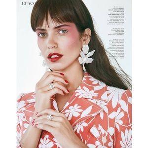 NWT Anthropo lele sadoughi crystal lily earrings